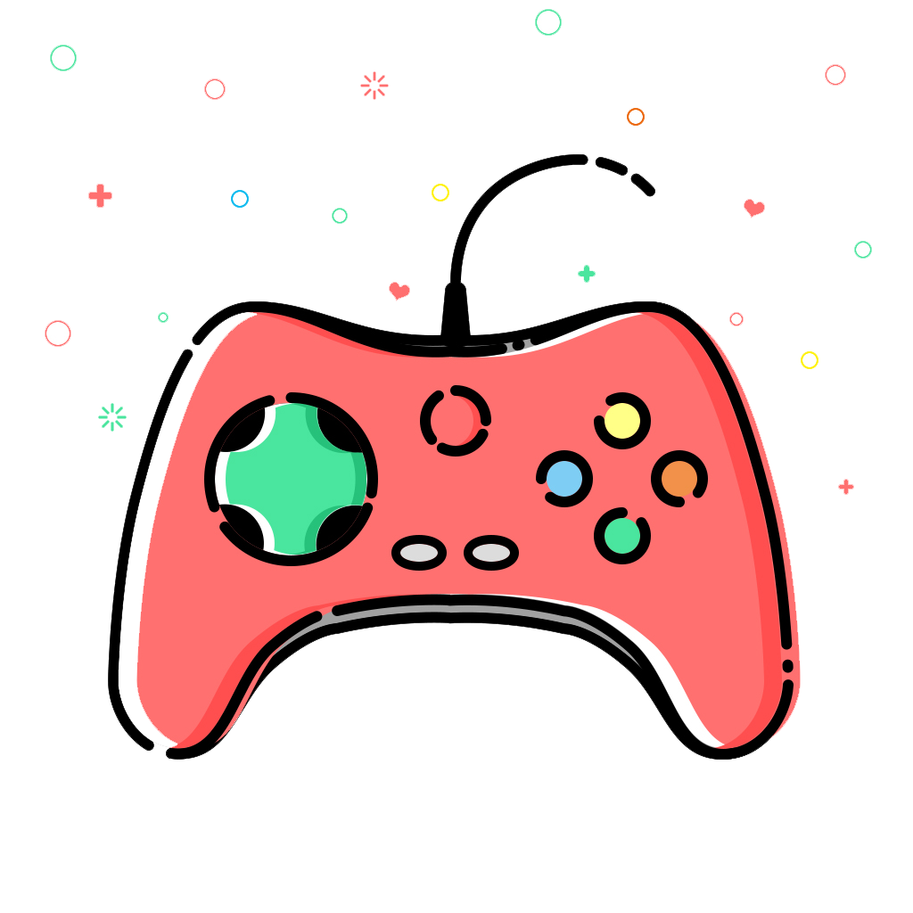 Pink All Gamepad Xbox Game Video Joystick PNG Image