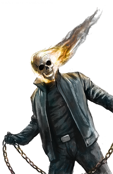 Ghost Rider Face Photos PNG Image
