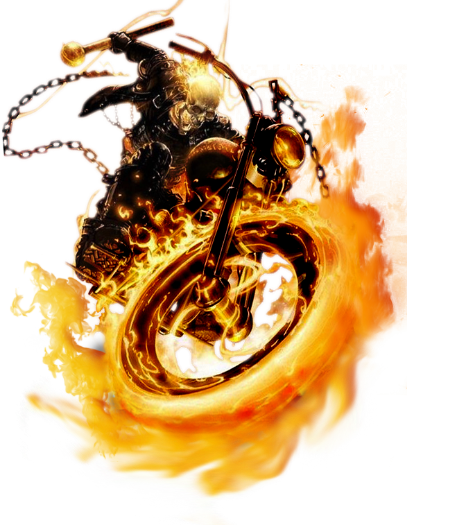 Ghost Rider Face Transparent PNG Image