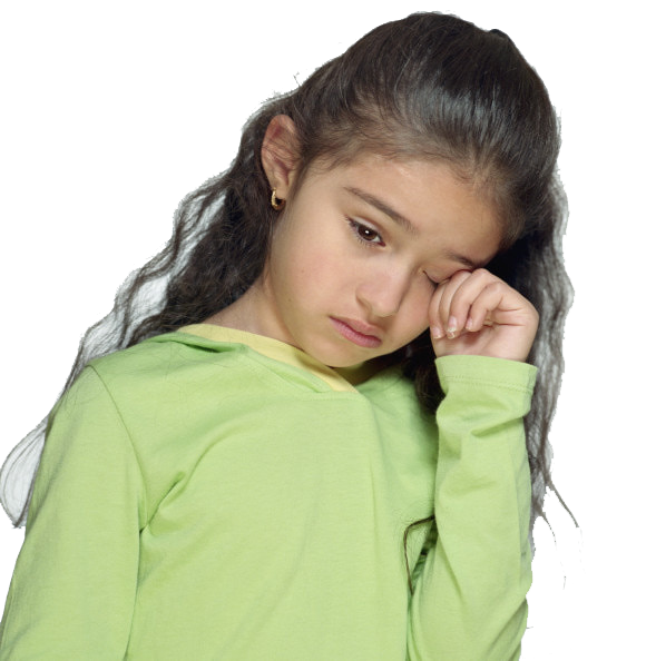 Sad Little Girl PNG Image