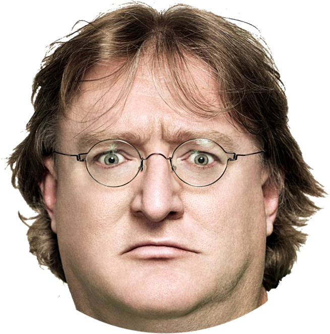Halflife Head Behavior Newell Human Gabe PNG Image