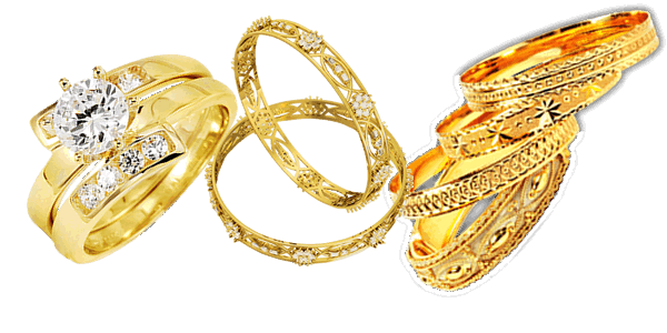 Gold Jewelry Clipart PNG Image