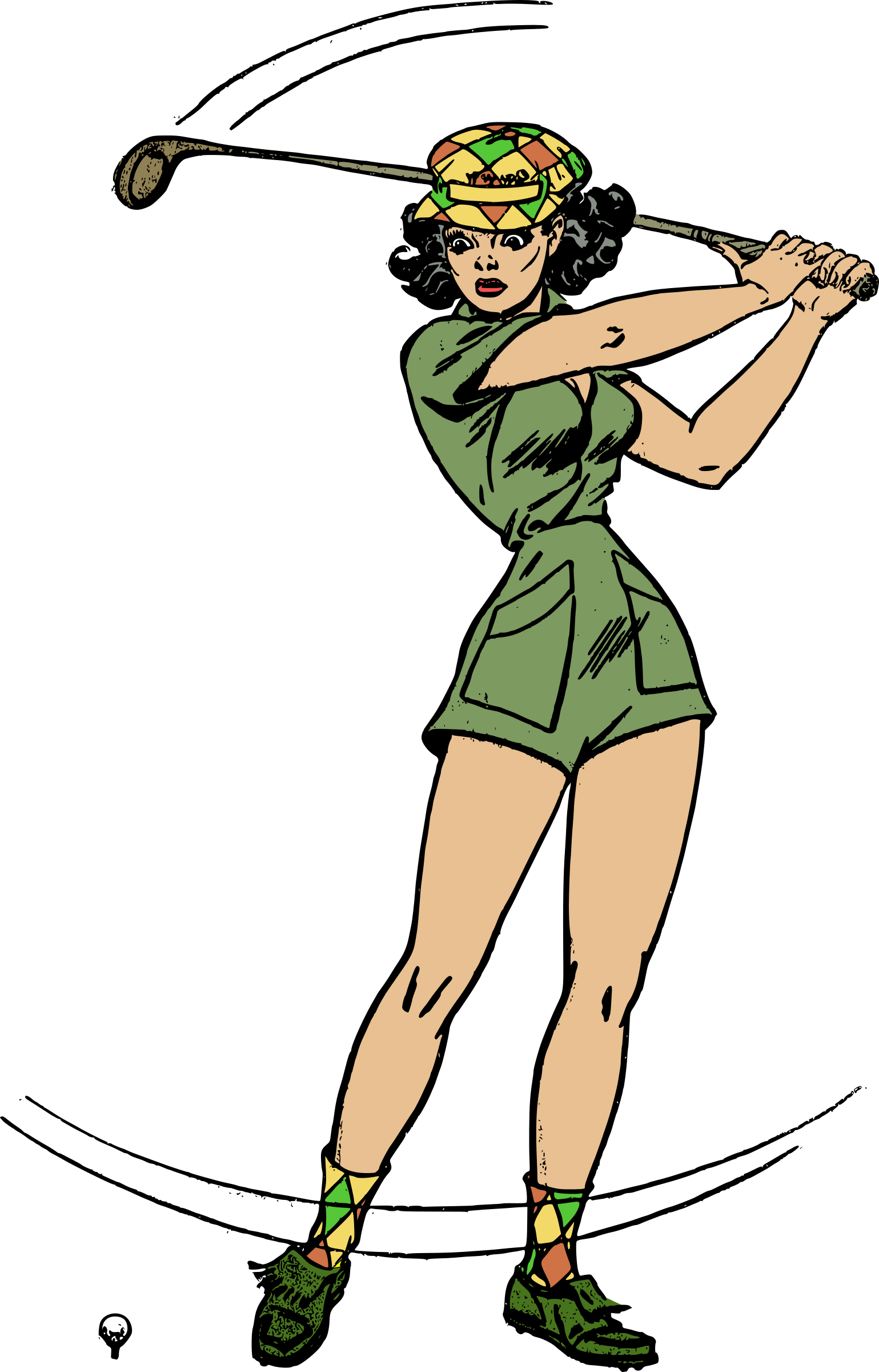 Female Golfer Transparent Background PNG Image