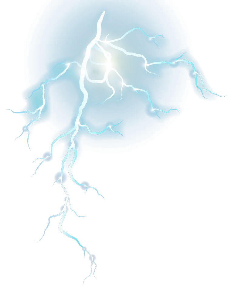 Blue Graphic Pattern Strikes Lightning Design PNG Image