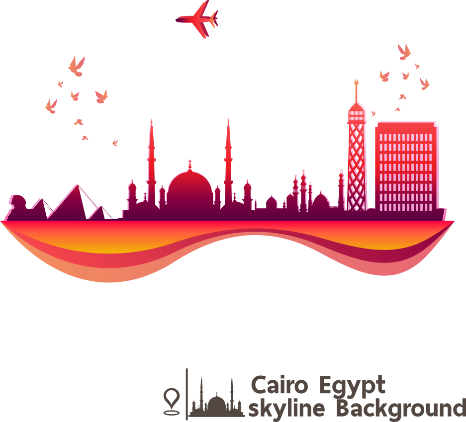 Cairo Skyline Shutterstock Recreation Text HD Image Free PNG PNG Image
