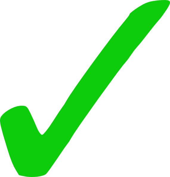 Green Tick File PNG Image
