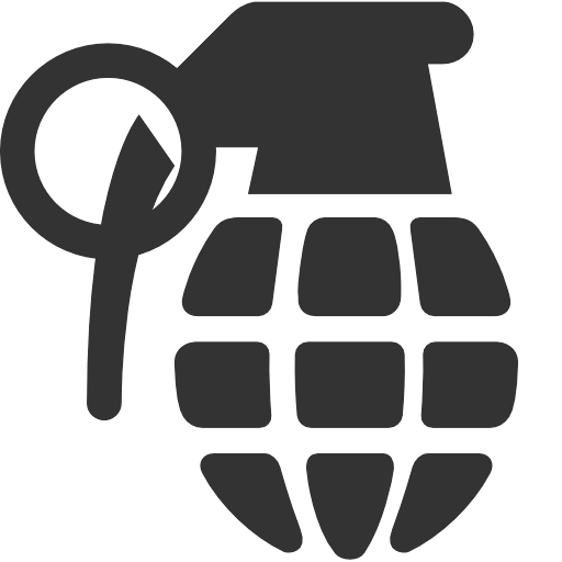 Siluet Hand Grenade Png Image PNG Image