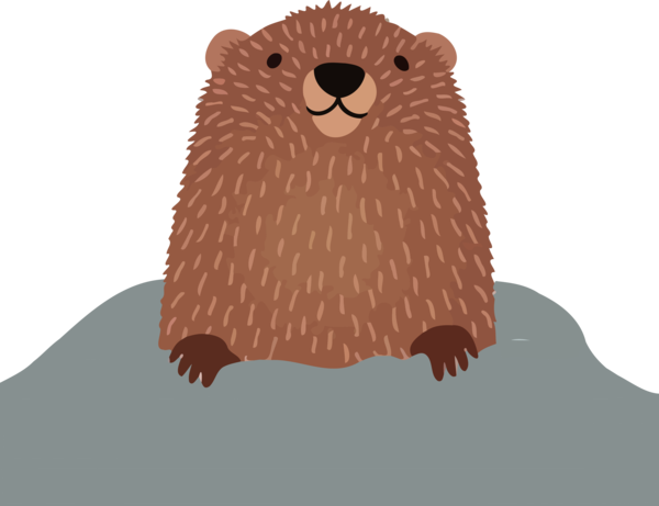 Groundhog Day Otter Beaver For Decoration PNG Image