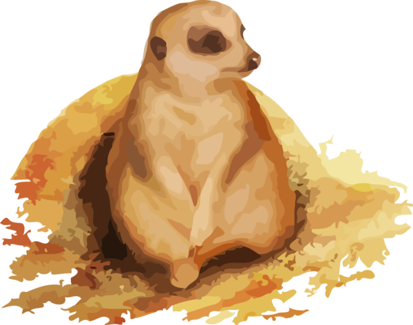 Groundhog Day Meerkat Mongoose Fawn For Ball Drop PNG Image