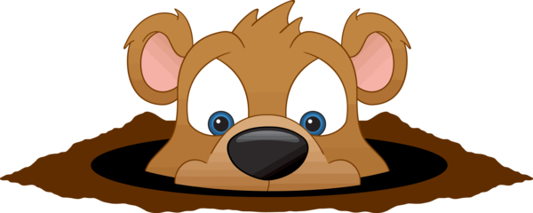 Groundhog Day Cartoon Snout Fawn For Holiday PNG Image