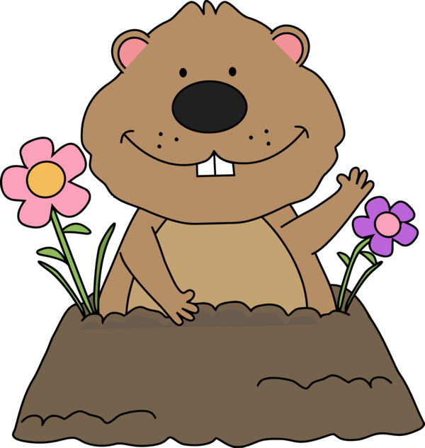 Groundhog Day Cartoon Plant For Party 2020 PNG Image