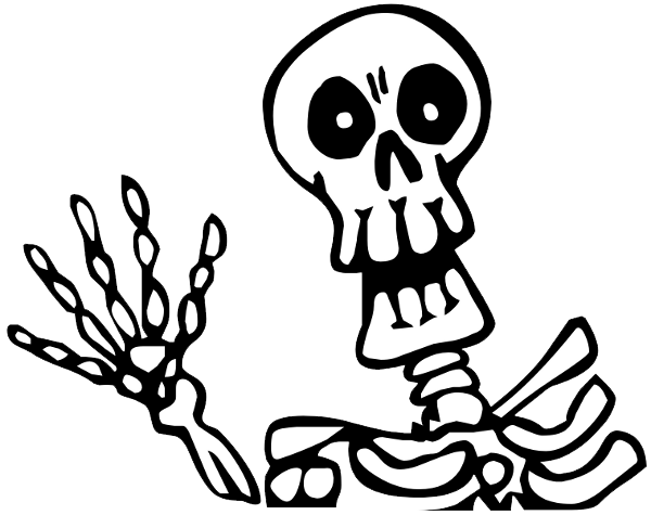 Halloween Skeleton Picture PNG Image