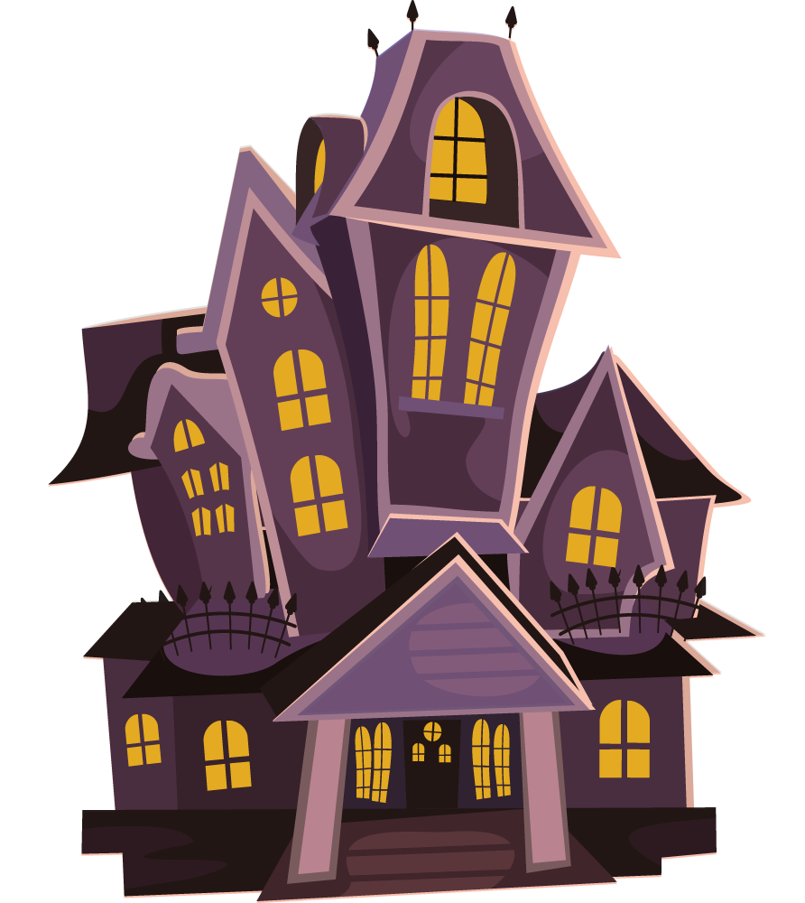 Halloween House File PNG Image