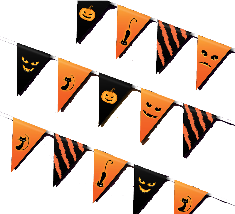 Triangle Flag Airpods Halloween Pattern Free Download PNG HQ PNG Image