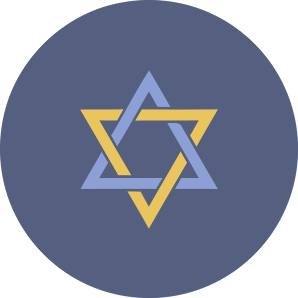 Hanukkah Logo Electric Blue Circle For Happy Games PNG Image