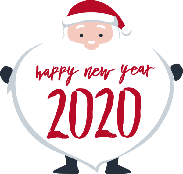 Download New Year Cartoon Santa Claus Font For Happy 2020 ...