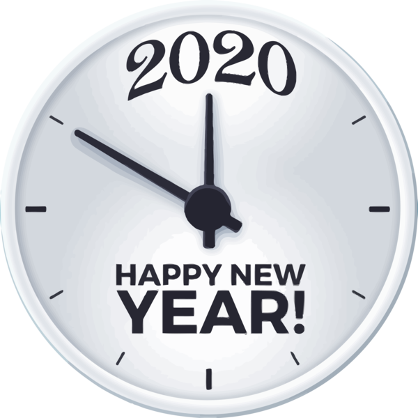 New Year Clock Wall Furniture For Happy 2020 Lanterns PNG Image