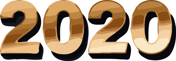 New Year 2020 Font Number Text For Happy Countdown PNG Image