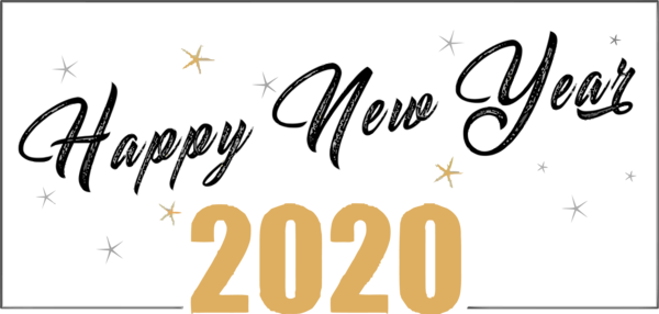 Download New Year Font Text Calligraphy For Happy 2020 ...