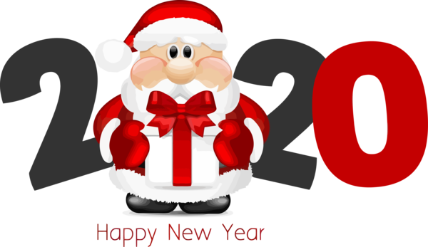 Download New Year Santa Claus Christmas Red For Happy 2020