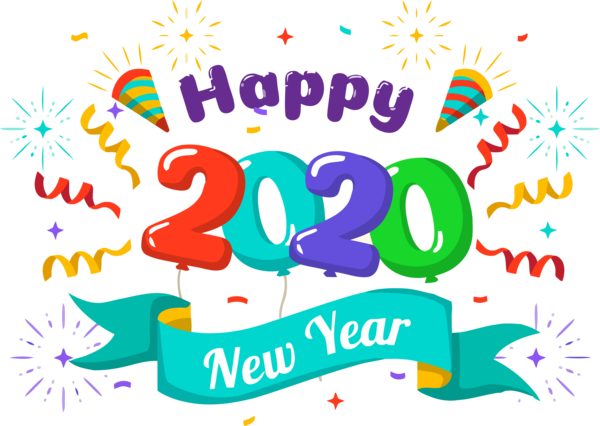 Download New Year Text Font Celebrating For Happy 2020 ...