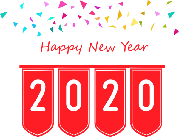 New Year Text Font Line For Happy 2020 Events Near Me PNG Image