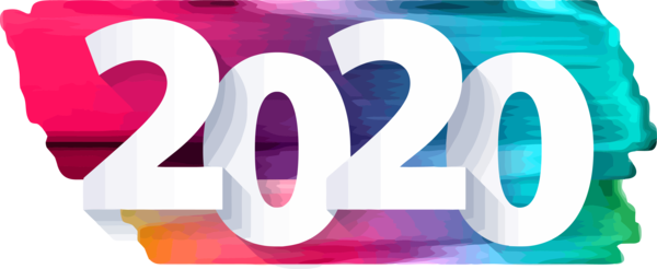 New Years 2020 Text Font Line For Happy Year Day 2020 PNG Image