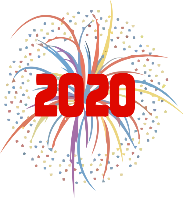 Download New Year 2020 Text Line Logo For Happy Holiday ...
