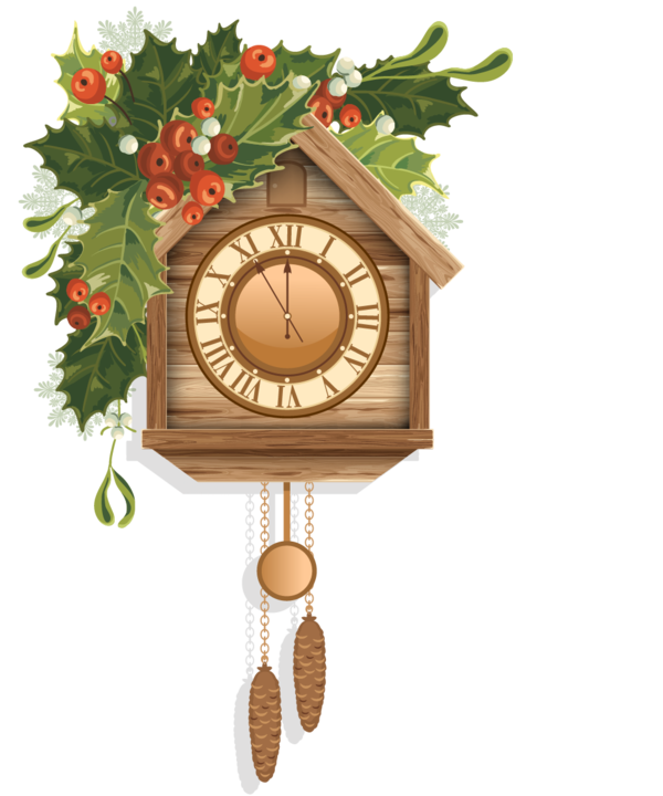Clock Cuckoo Christmas Furniture Home Accessories For Fireworks PNG Image