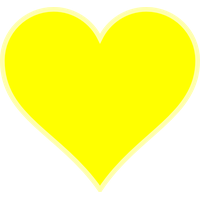 Yellow Heart Transparent Background PNG Image
