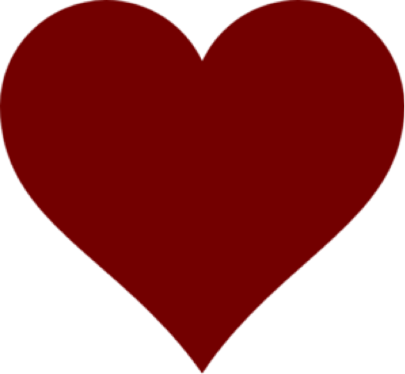 Dark Red Heart Clipart PNG Image