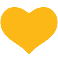 Yellow Heart Clipart PNG Image
