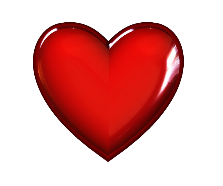 3D Red Heart Transparent Image PNG Image