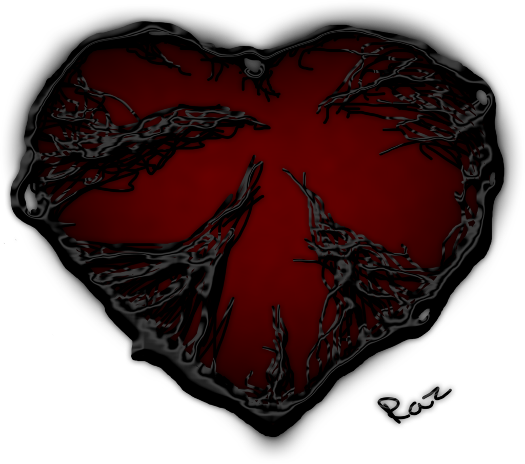 Dark Red Heart PNG Image