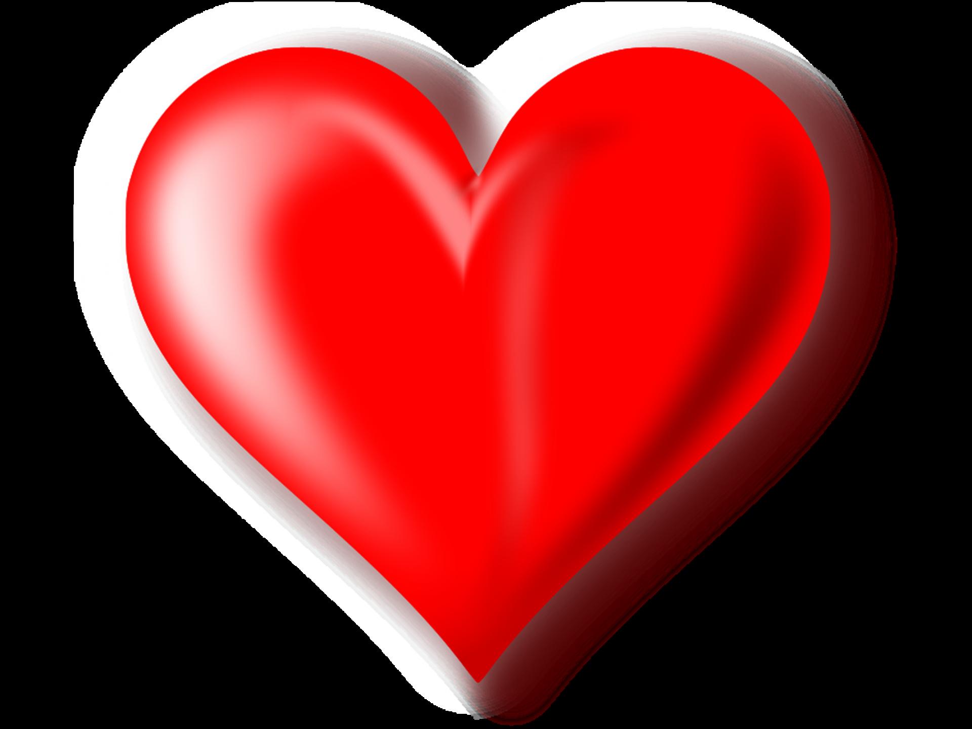 Download 3D Red Heart Transparent Background HQ PNG Image ...