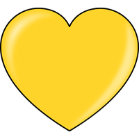 Yellow Heart Photos PNG Image