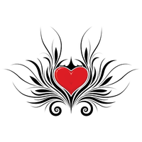 Heart Tattoos Png Hd PNG Image