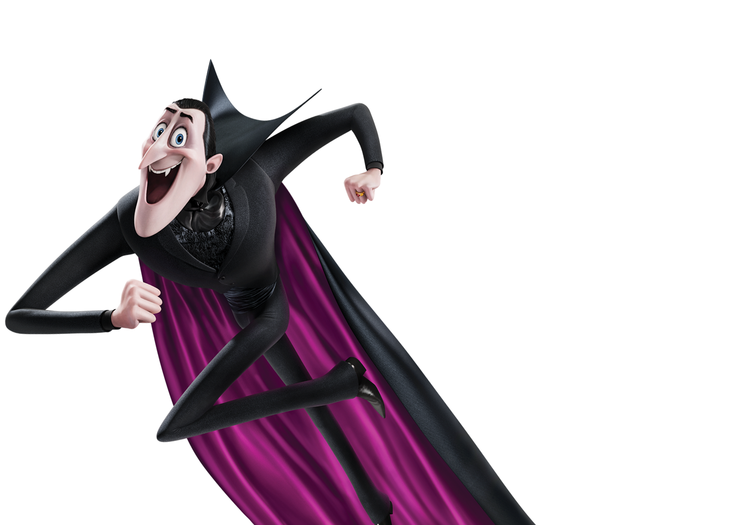 Count Purple Dracula Hotel Character Fictional Pocket PNG Image