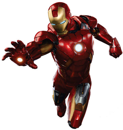Iron Man Flying Transparent Background PNG Image