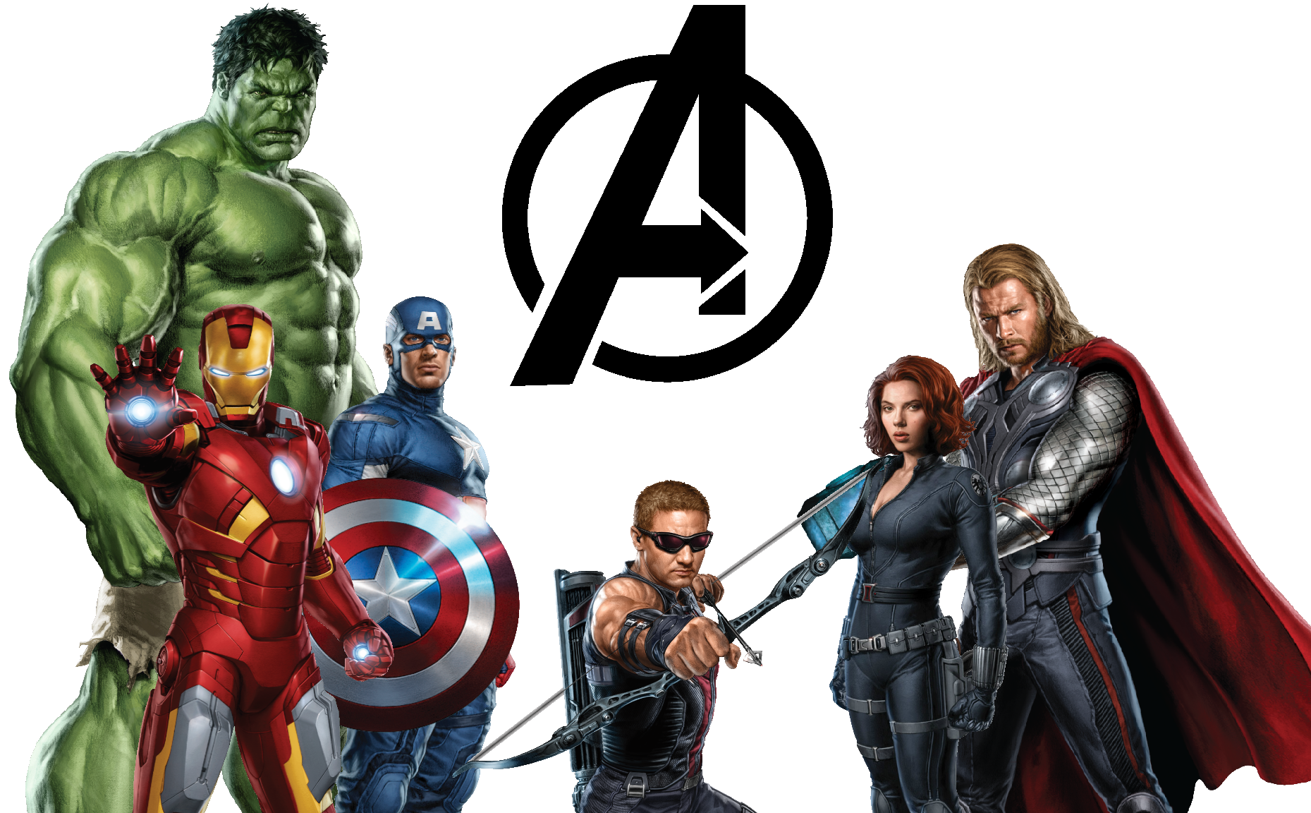 Figure Character Fictional Thor Hulk Iron Action PNG Image