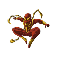 Iron Spiderman Photo PNG Image