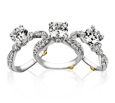 Silver Rings With Diamond Png PNG Image
