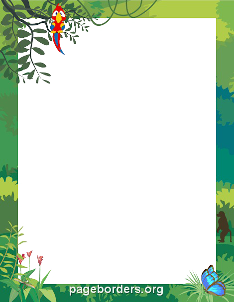 Jungle Border Clipart PNG Image