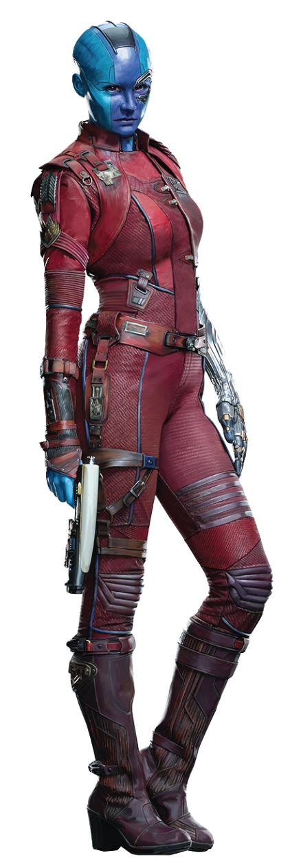 Superhero Vol Of Armour Nebula Gamora Guardians PNG Image