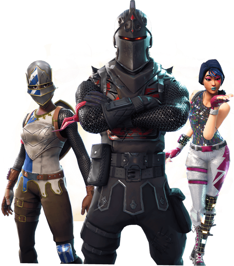 Figure Knight Armour Royale Black Fortnite Battle PNG Image