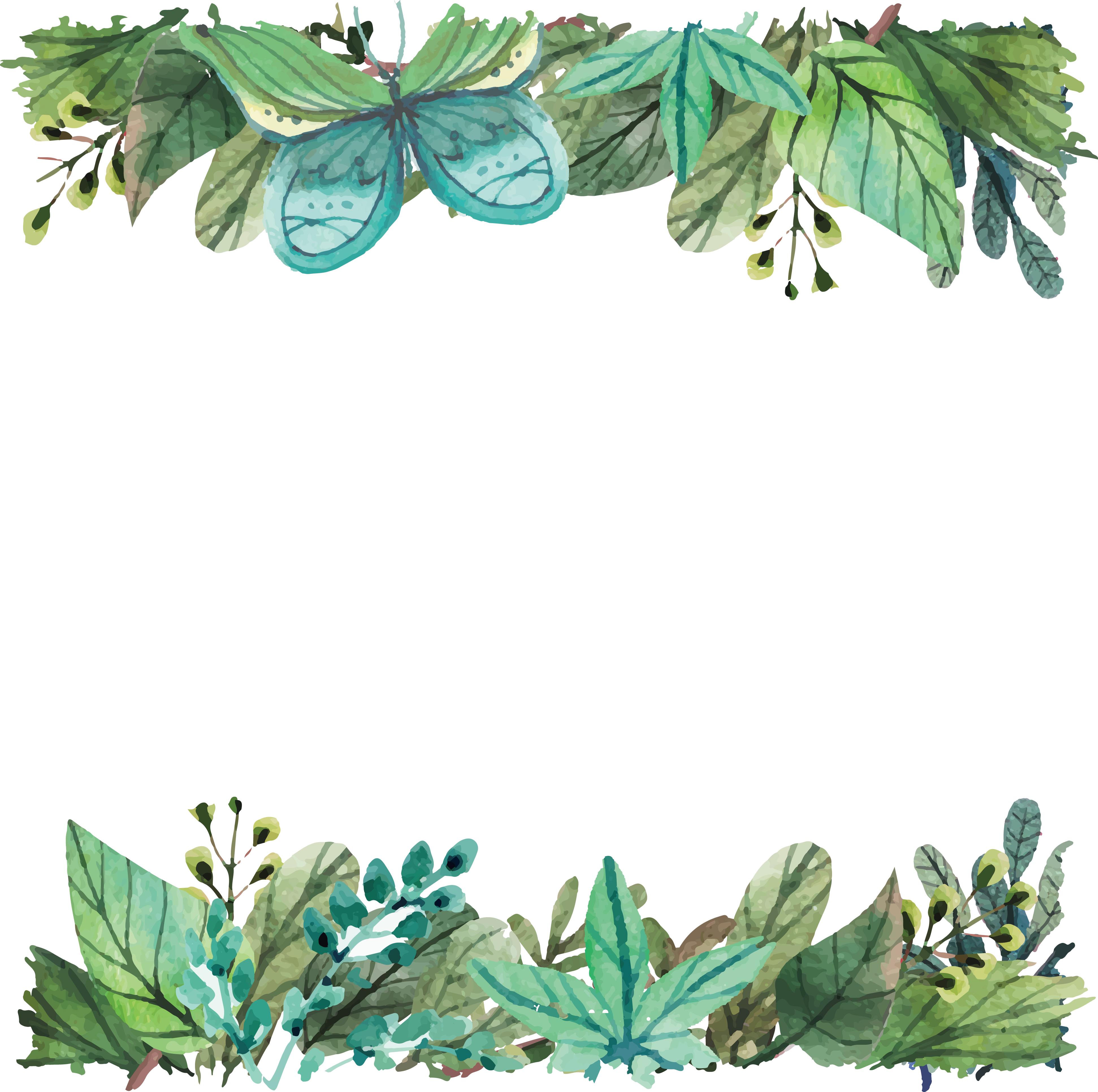 Leaf Silicone Tree Telephone 5S Watercolor Green PNG Image