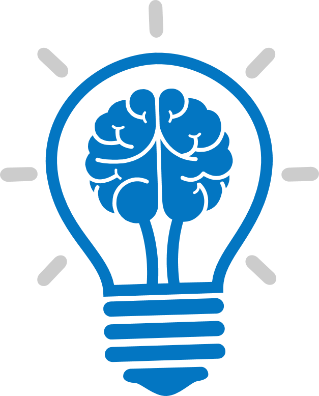 Light Brain Incandescent Bulb Cartoon Icon PNG Image