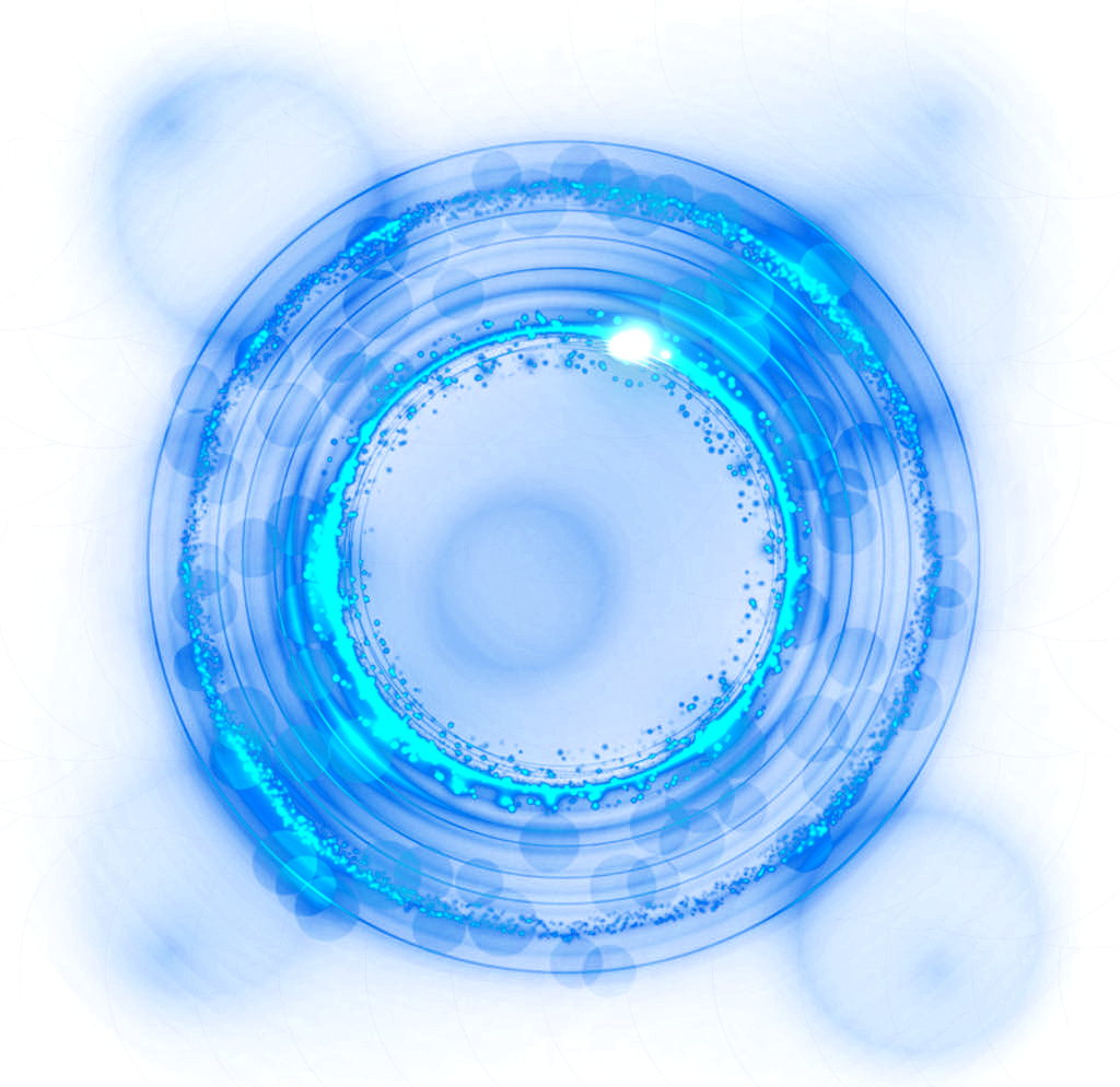 Blue Light Decoration Effect Free Clipart HD PNG Image