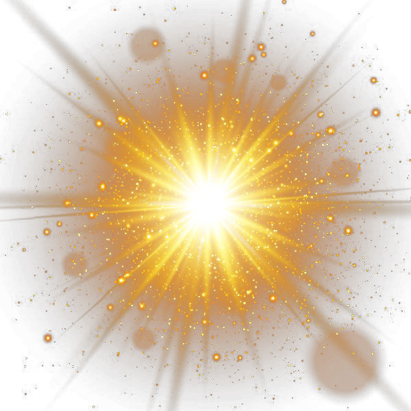 Decorative Gold Efficacy Light Spot Effect Sunlight PNG Image