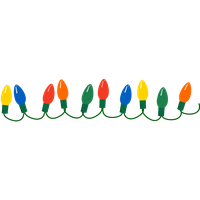 Christmas Lights File PNG Image